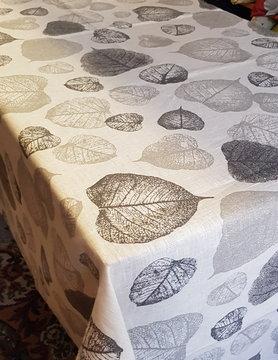 Le grenier du lin tafelkleed met gebladerte