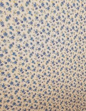 tissu fleurs de lin