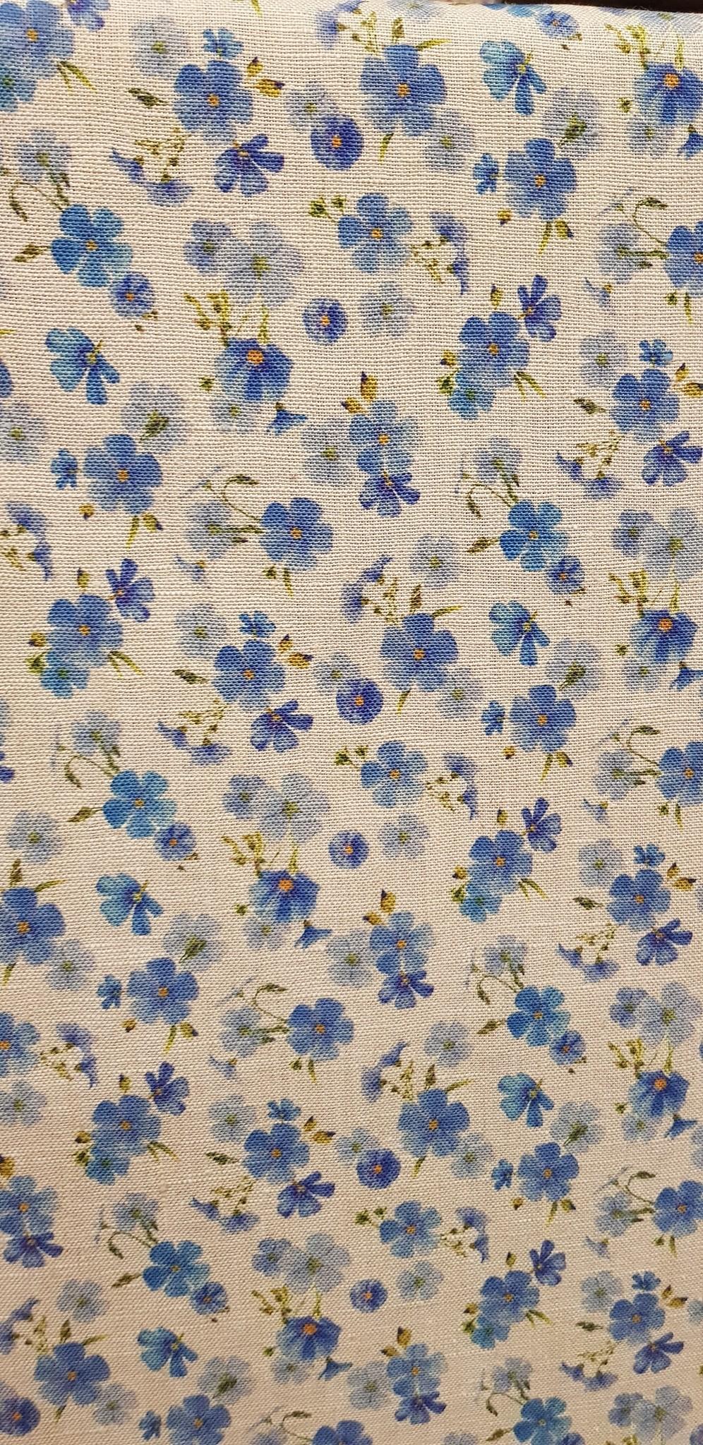 Le grenier du lin tissu fleurs de lin