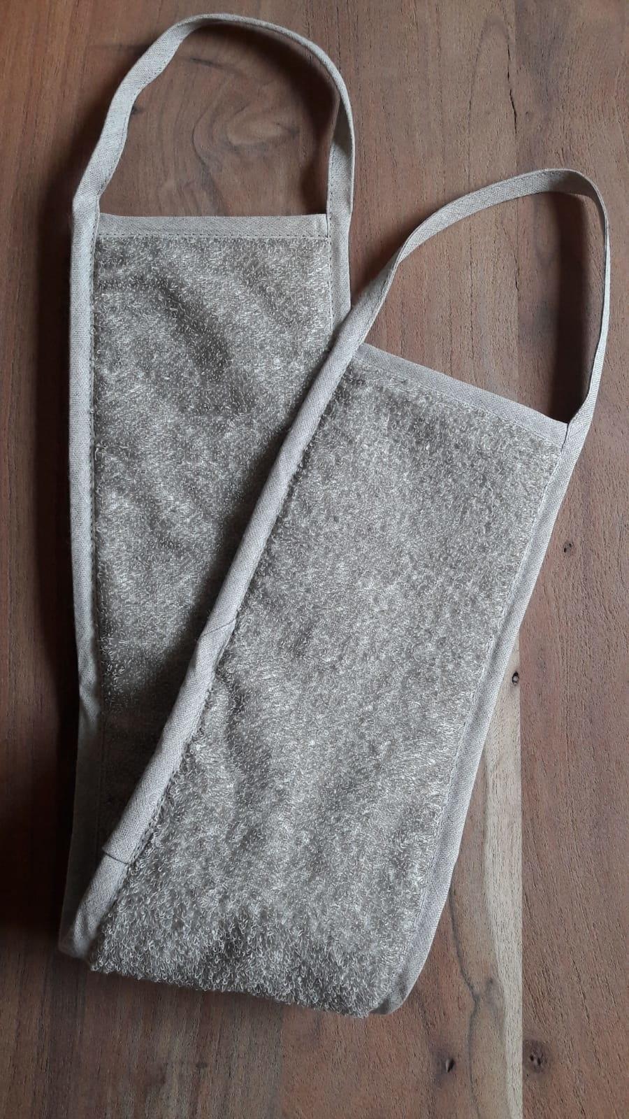 Le grenier du lin frotte dos lin naturel