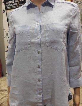 Light blue two-pocket blouse