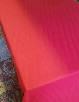 Le grenier du lin Nappe lin lavé rouge
