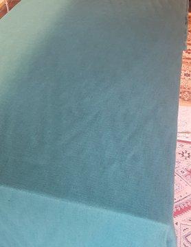 Le grenier du lin tafelkleed gewassen linnen dennenhout groen