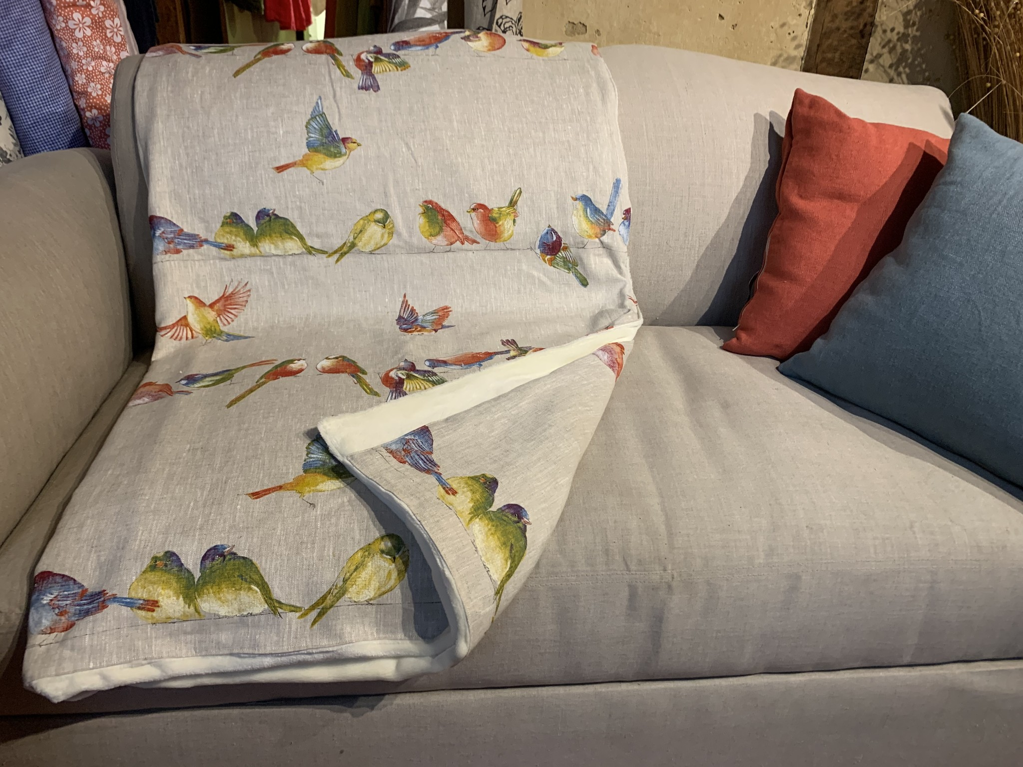 Le grenier du lin Vogelschilderij