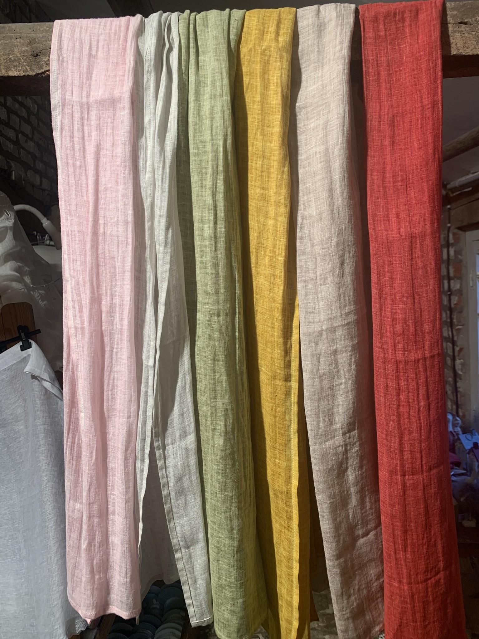 """Le grenier du lin plantaardige kleurstof"""" sjaal"""
