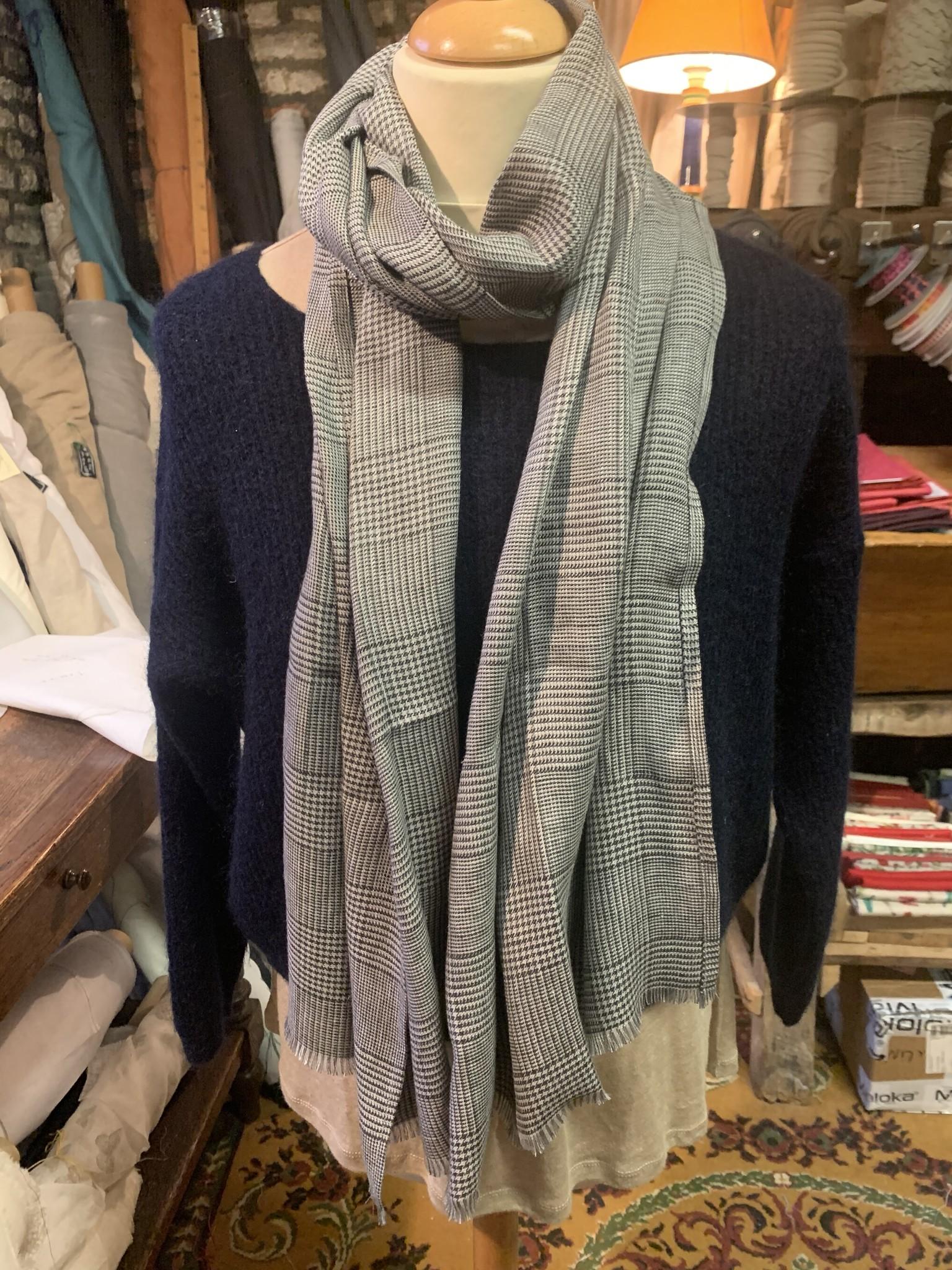 Le grenier du lin Check scarf