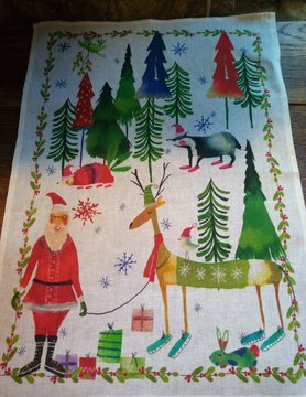 torchon Noël enfantin