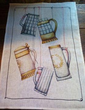 """Tea towel """"beer mug"""