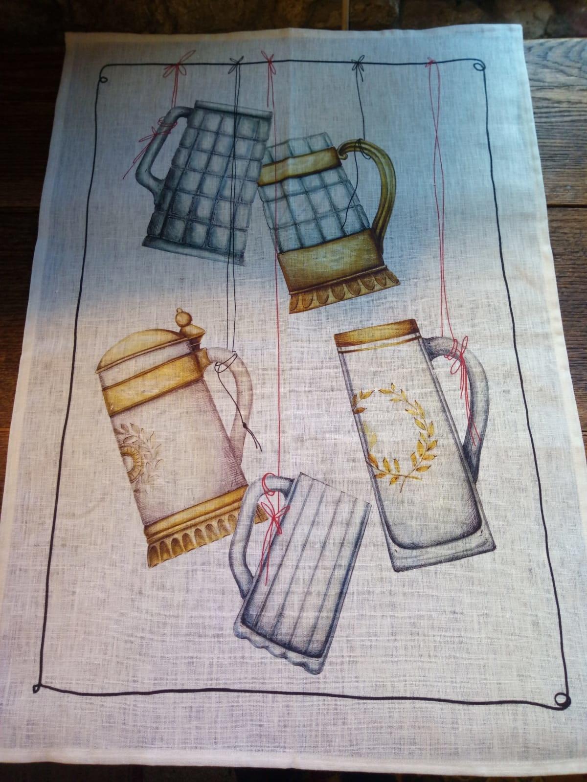 """torchon """"chope de bière"""""""