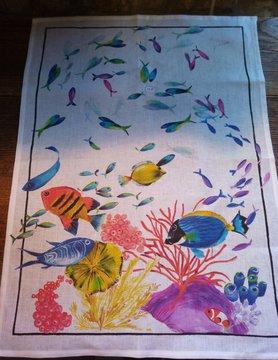 """Le grenier du lin torchon """" poisson """""""