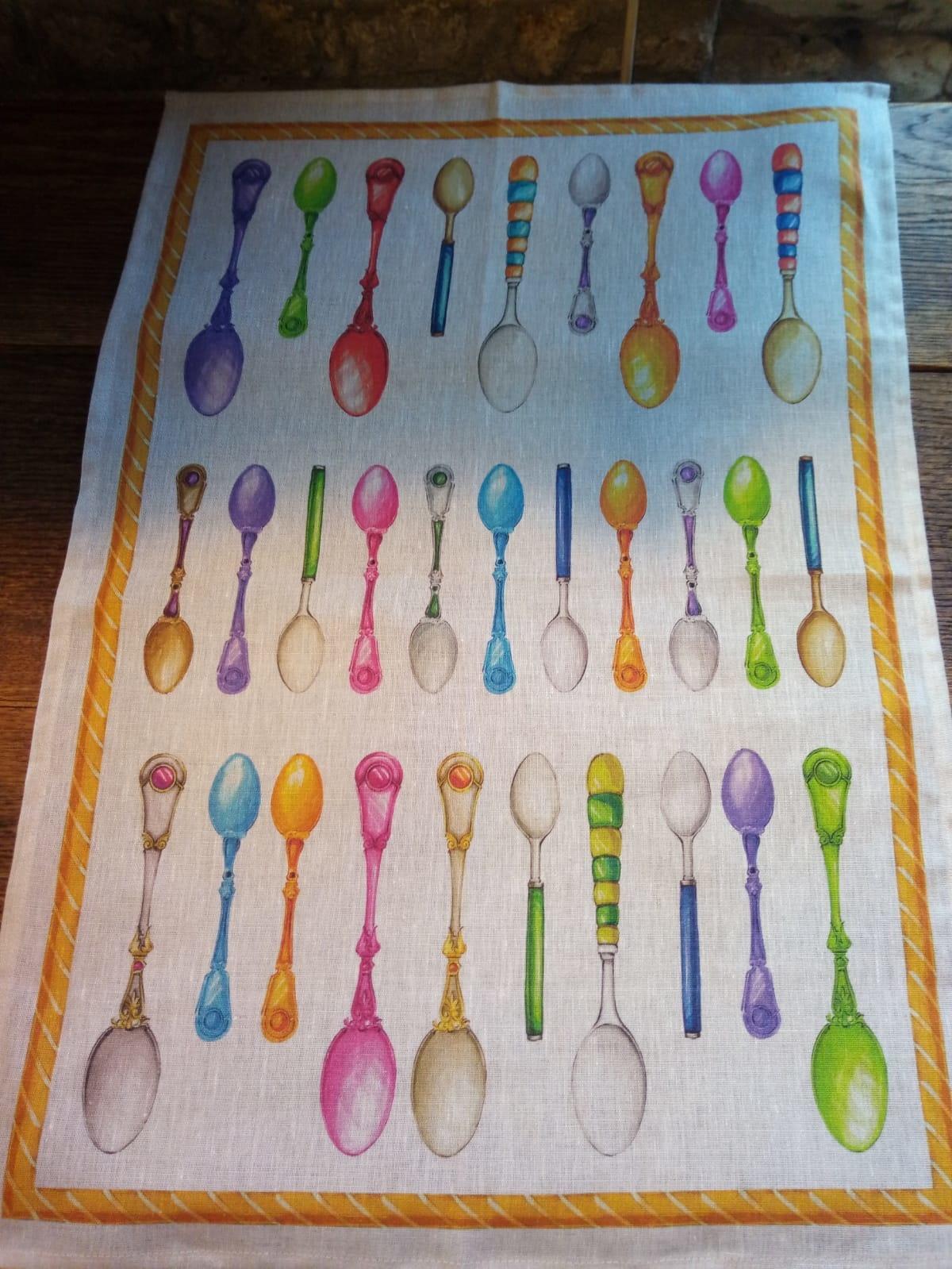 Spoon tea towel