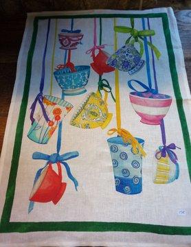 """Le grenier du lin torchon """" tasse """""""