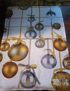 Le grenier du lin Christmas baubles wipe