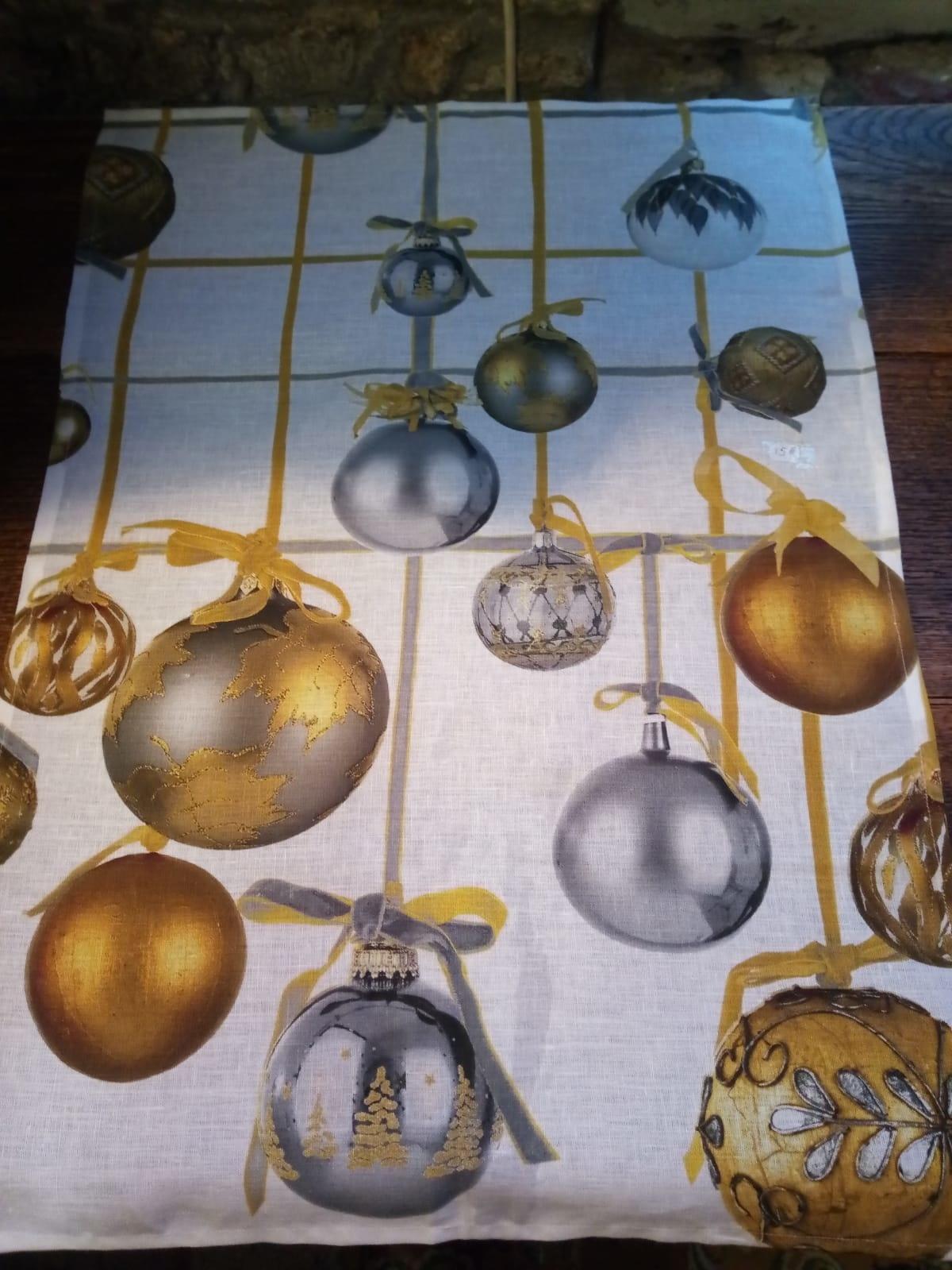 Le grenier du lin Essui boules de Noël
