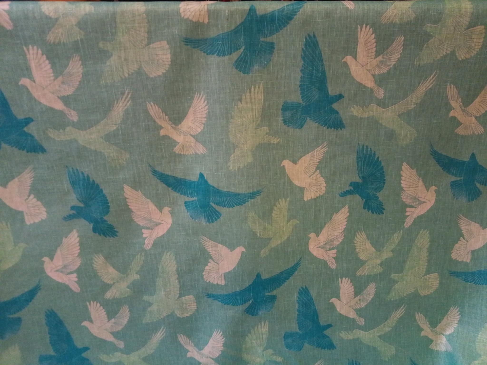 "Turquoise dove"" fabric"