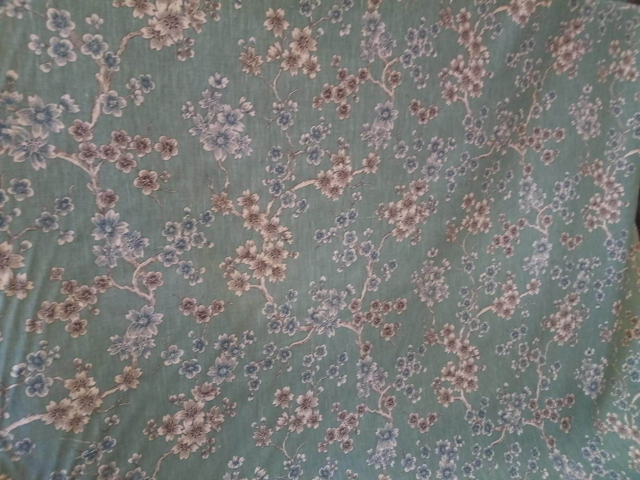 "tissu ""japonisant celadon """