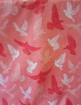 """Coral dove"""" fabric"""
