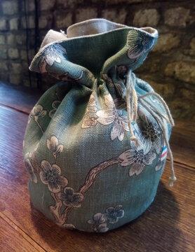 Le grenier du lin Japanse celadon zakje