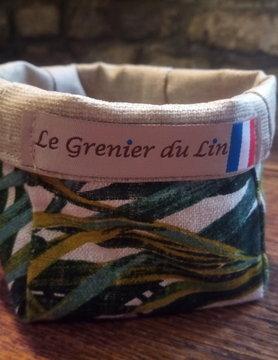 "Le grenier du lin Small ""palm tree"" pouch"