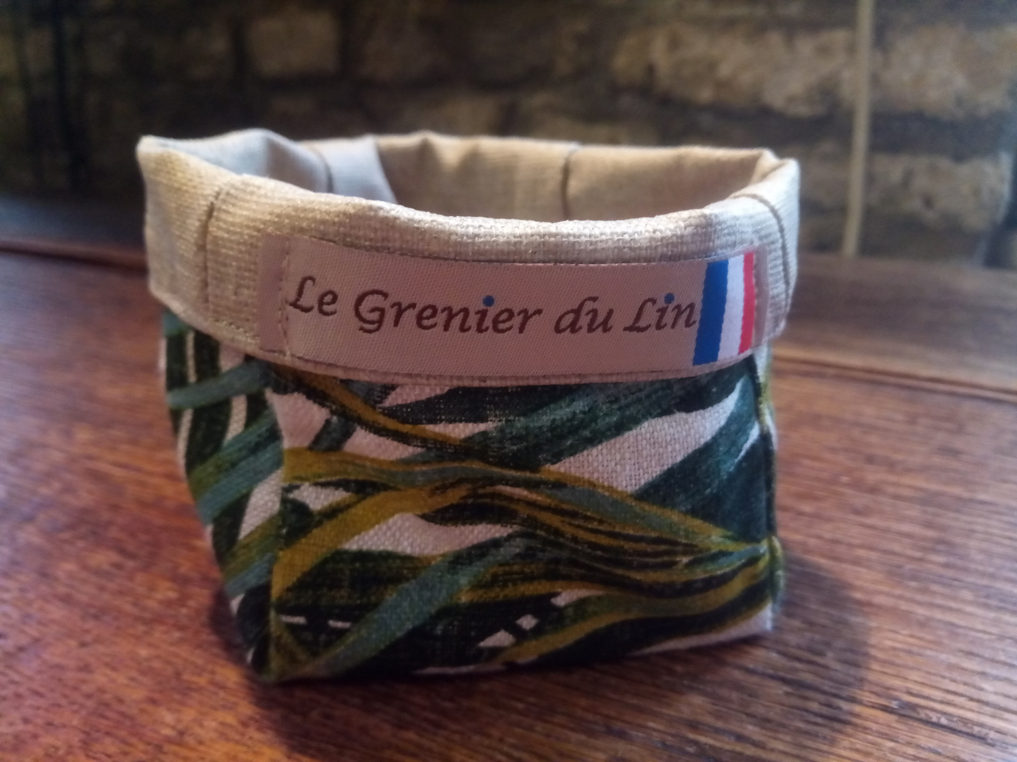 "Le grenier du lin Small ""palm tree"" pouch"