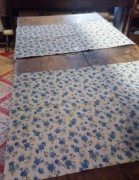 "Le grenier du lin chemin de table "" fleur de lin """