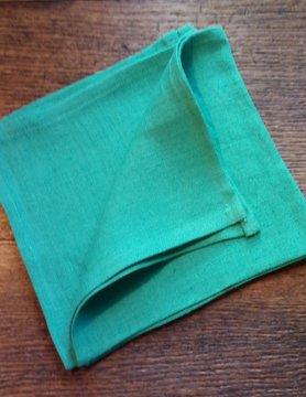 """Le grenier du lin serviette """" vert d'eau """""""