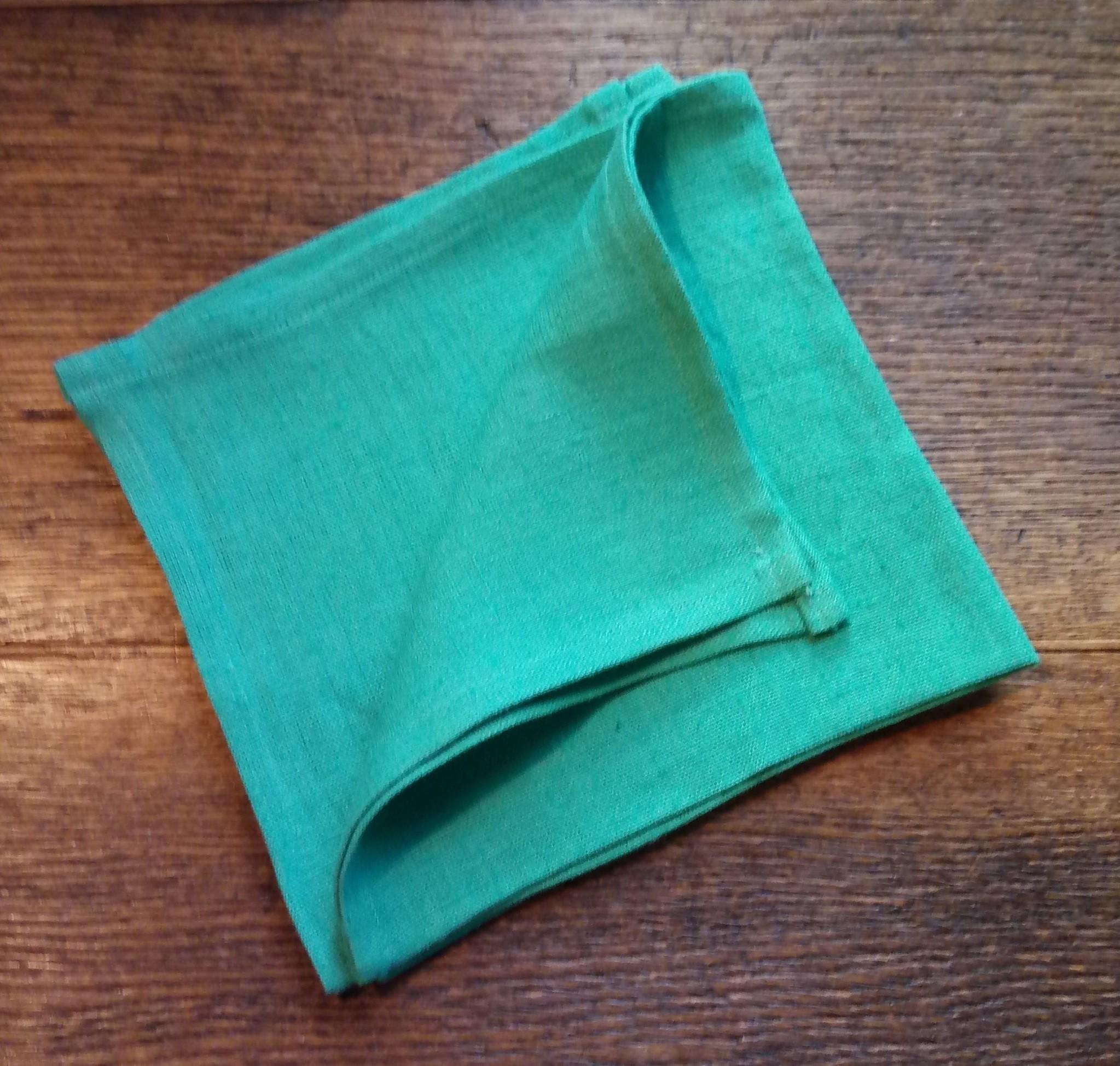 """Le grenier du lin serviette de table """" vert d'eau """""""