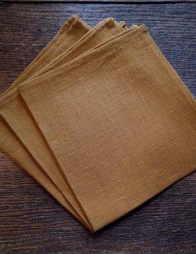 """Le grenier du lin serviette """" ocre """""""