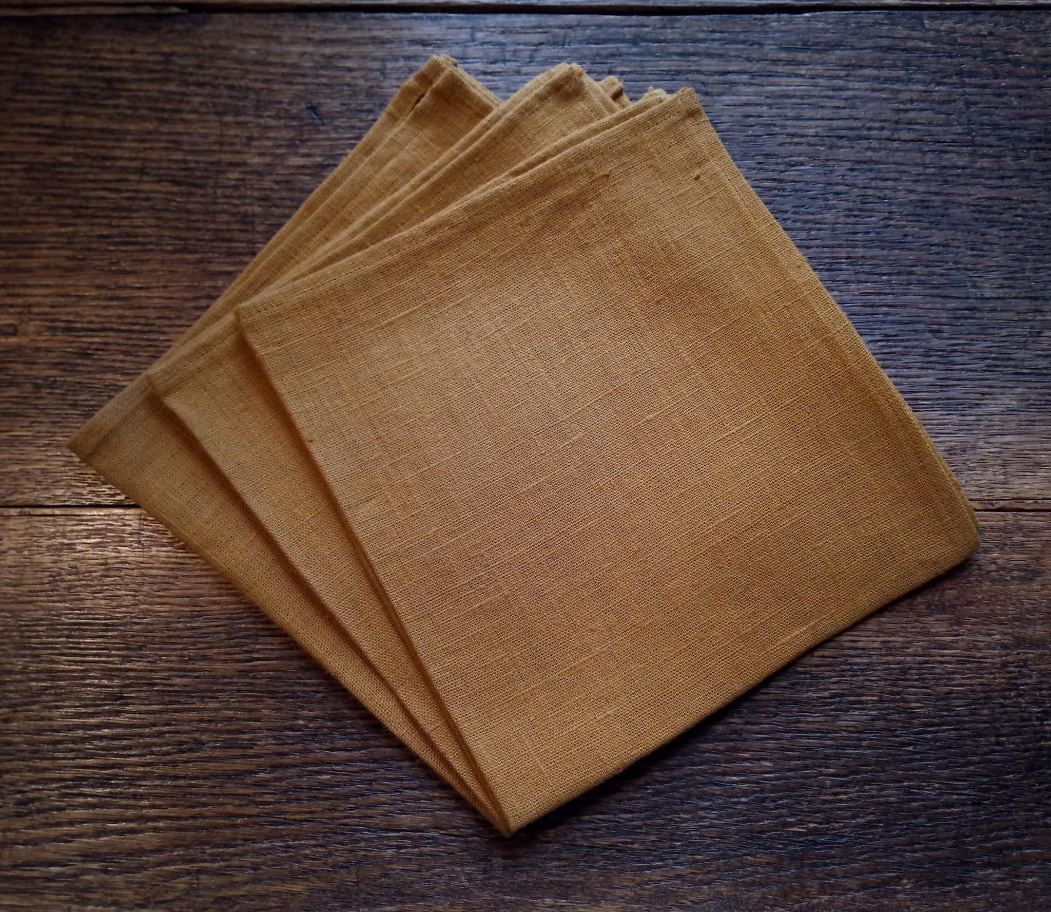 """Le grenier du lin serviette de table """" ocre """""""