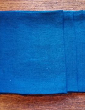 "Le grenier du lin Servet "" koningsblauw """