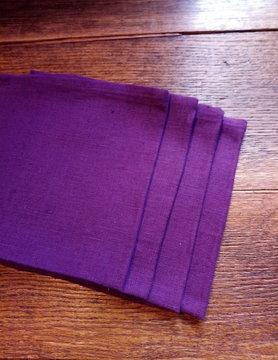 """Le grenier du lin Serviette de table  """" violet """""""