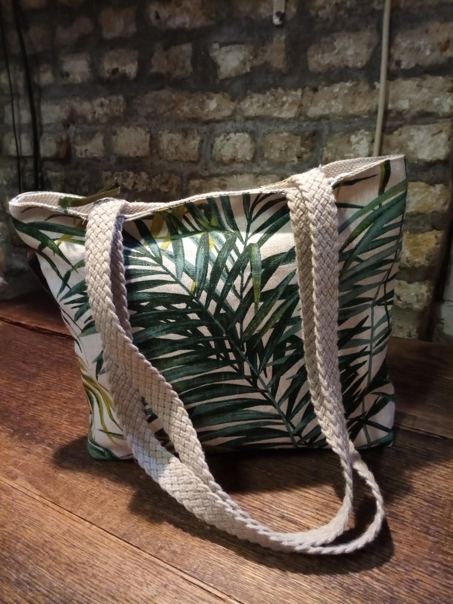 """Le grenier du lin sac """" feuille de palmier """""""