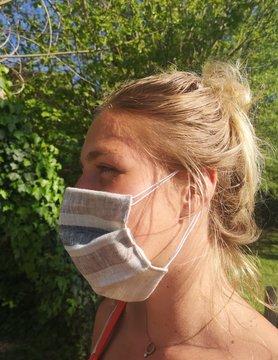 Natuurlijke Stripe Mask