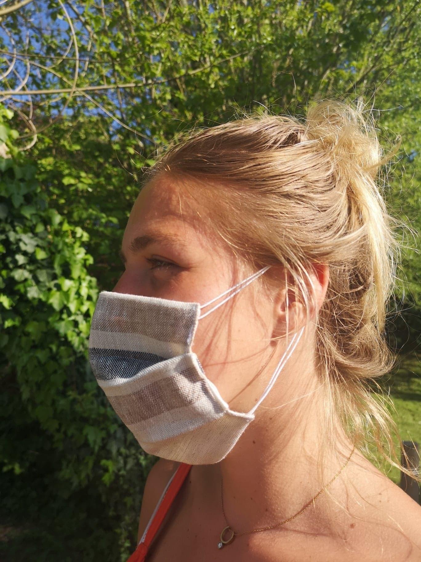 Natural Stripe Mask