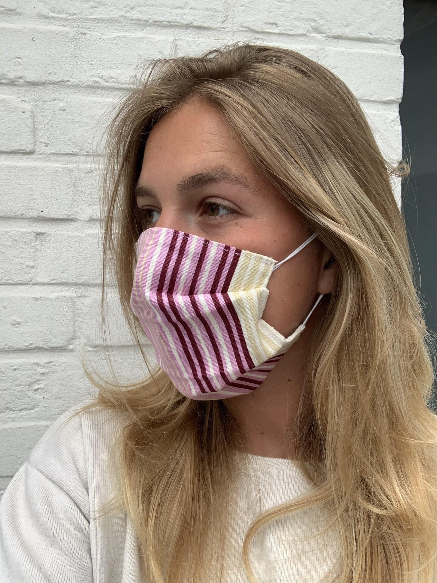 Purple Stripes Mask