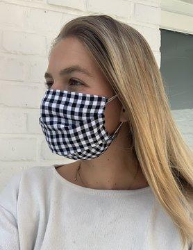 Masque Vichy noir et blanc
