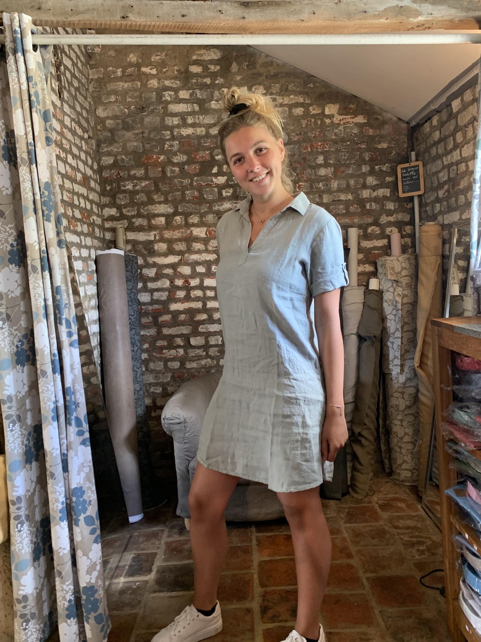 Le grenier du lin Kaki Lia Dress