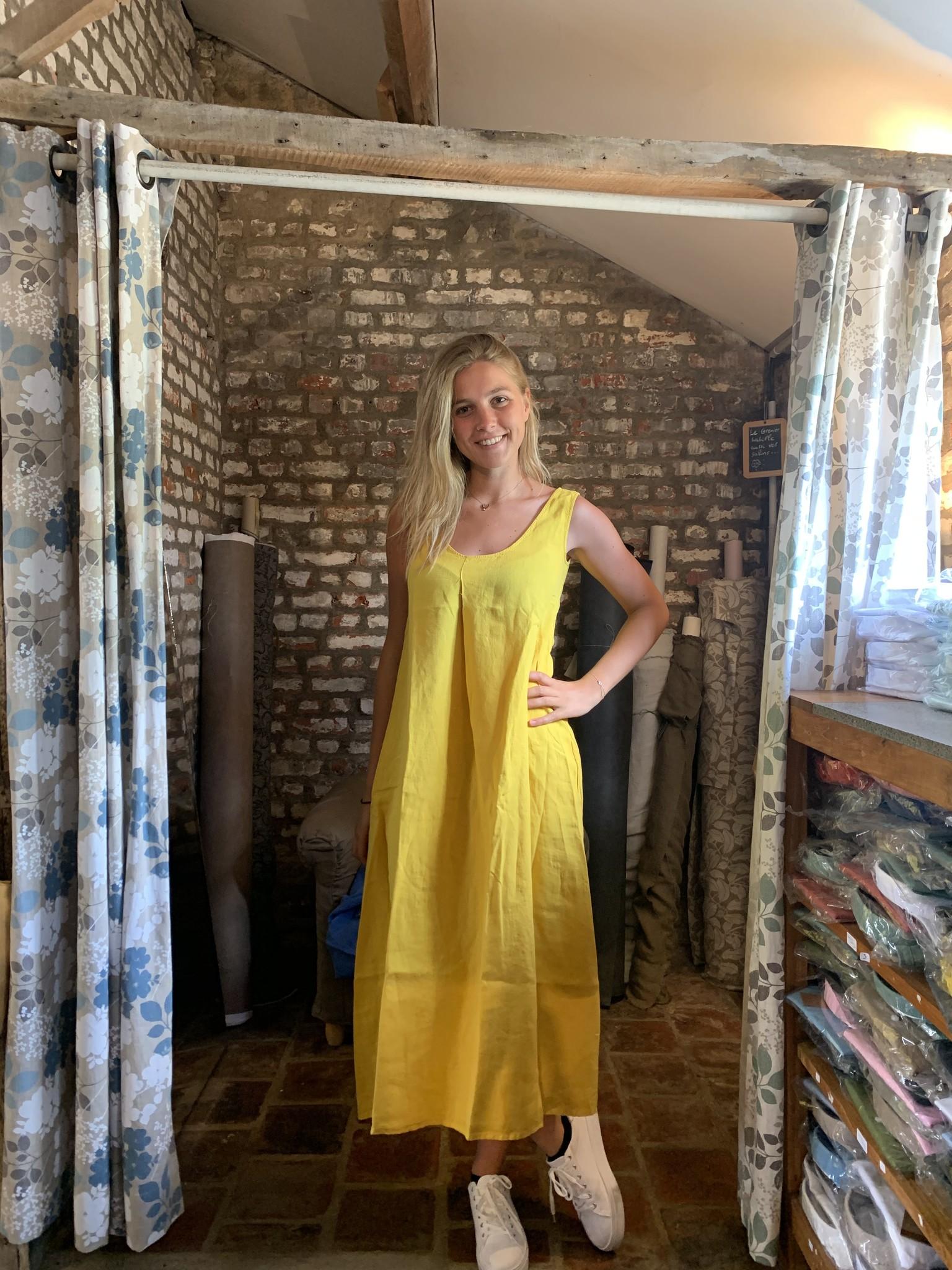 Le grenier du lin Indira Curry Dress