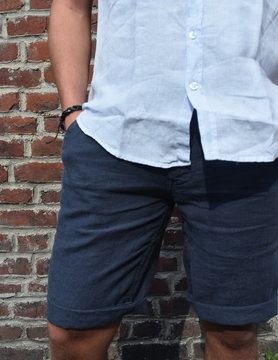 Navy blue Bermuda shorts