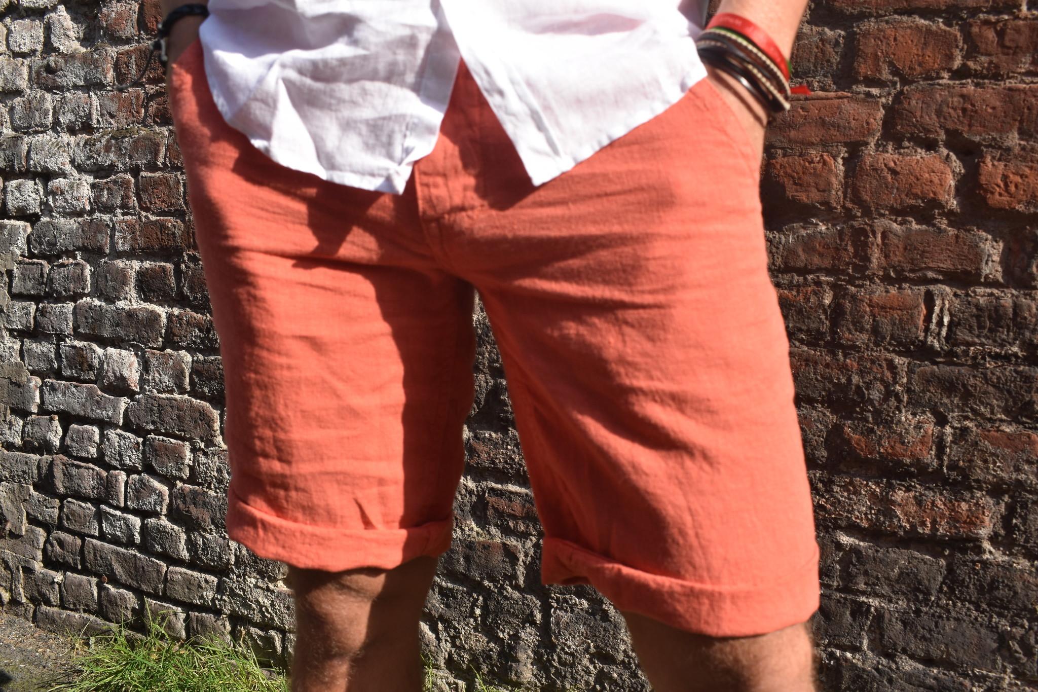 Apricot Bermuda shorts