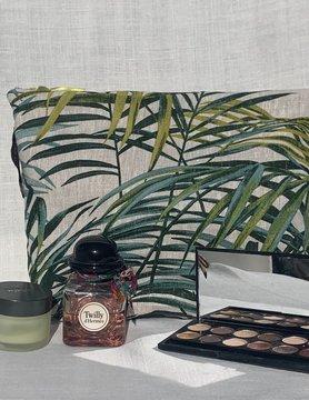 """Le grenier du lin """"Palm leaf"""" toilet bag"""