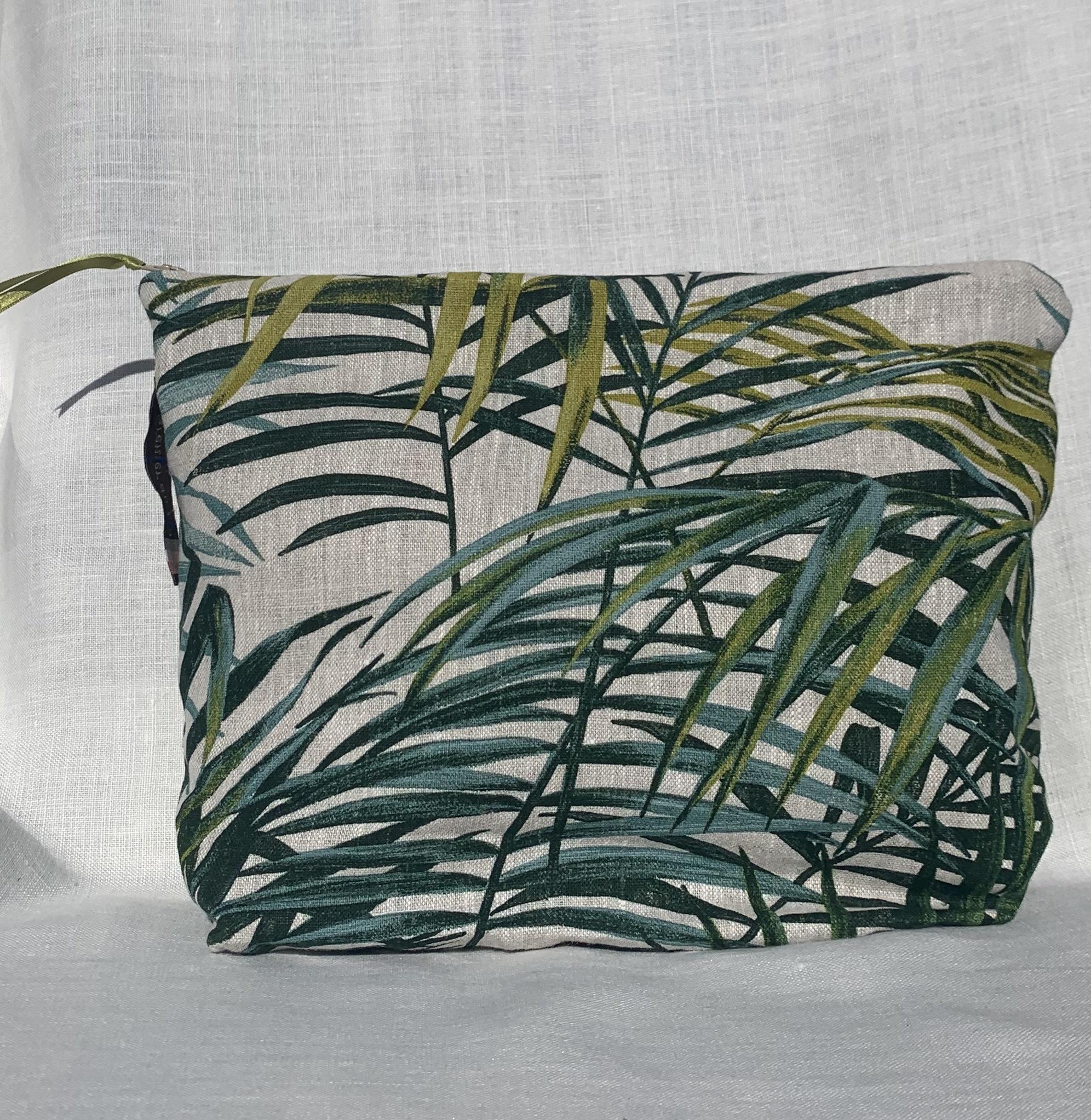 """Le grenier du lin Trousse """" feuille de palmier """""""
