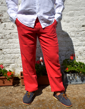 Le grenier du lin Trousers in red linen