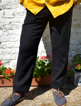 Le grenier du lin Pantalon  en lin noir