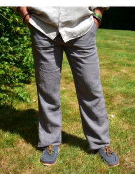 Le grenier du lin Taupe-broek
