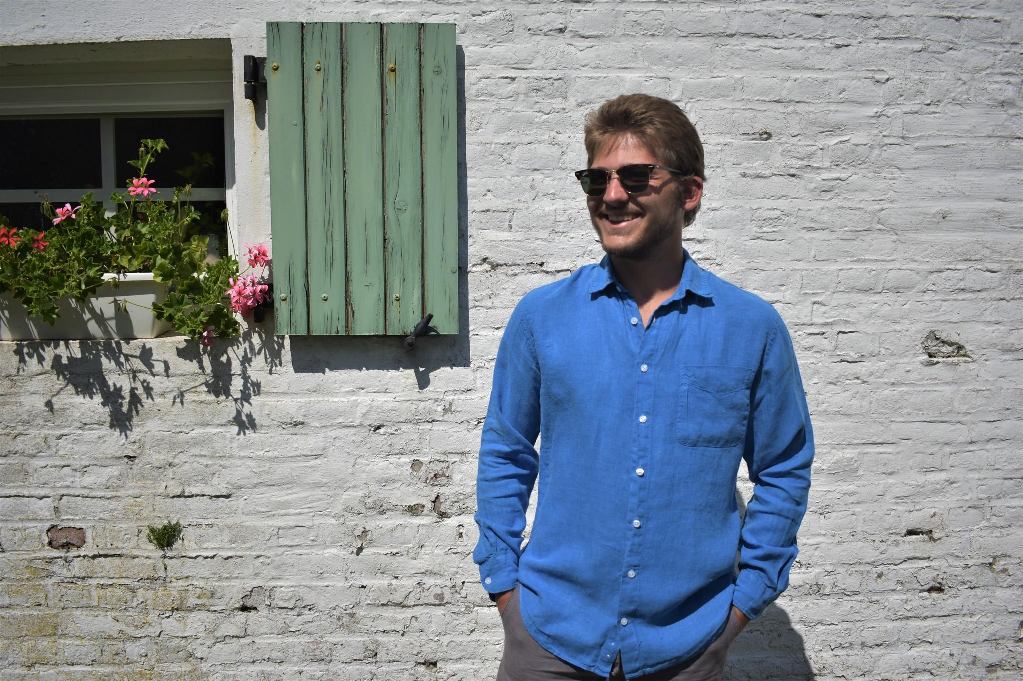 Le grenier du lin Tropisch shirt met lange mouwen