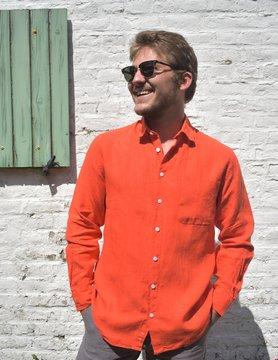 Le grenier du lin Shirt met lange mouwen Oranje