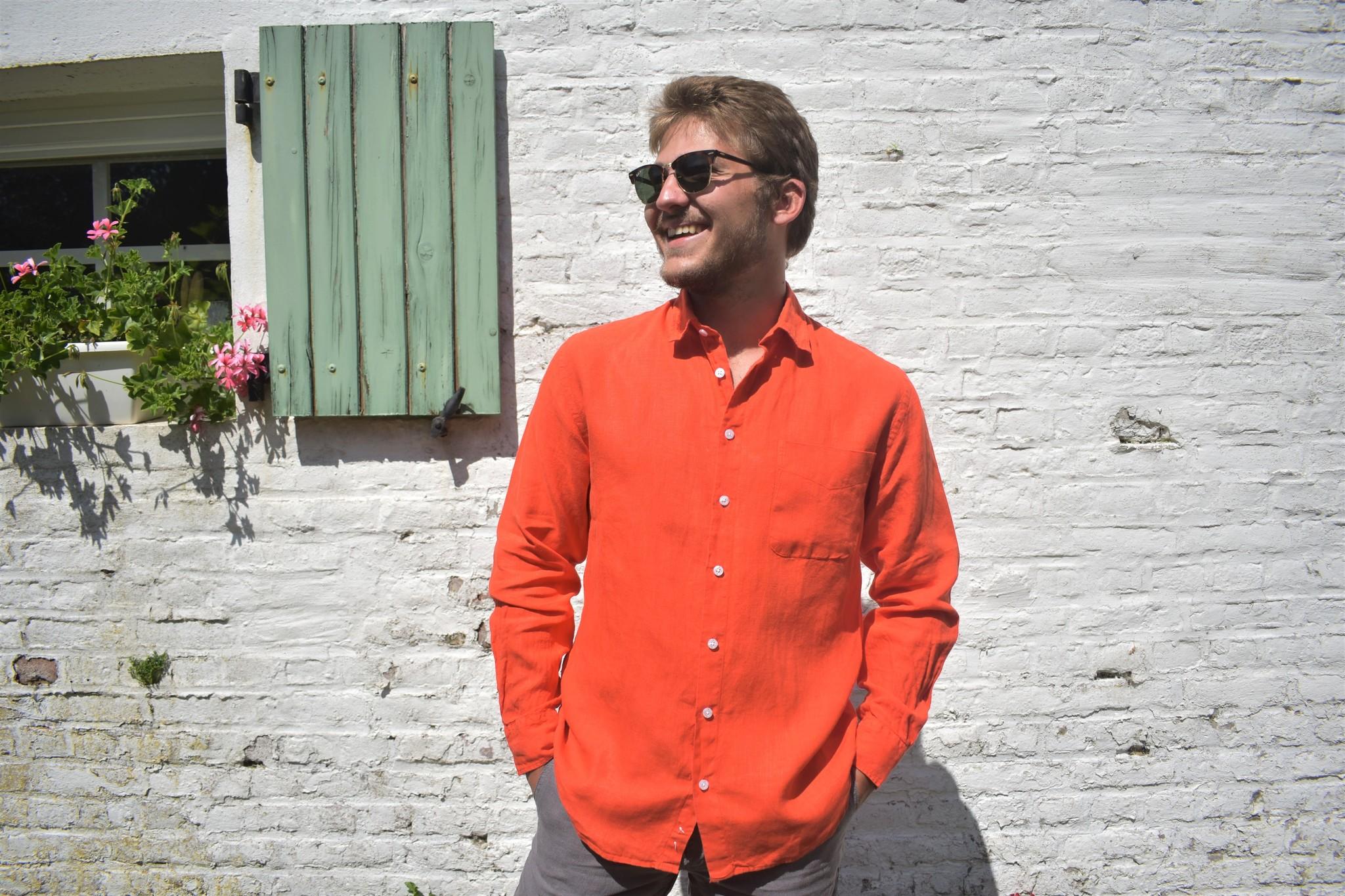 Le grenier du lin Long-sleeved shirt Orange