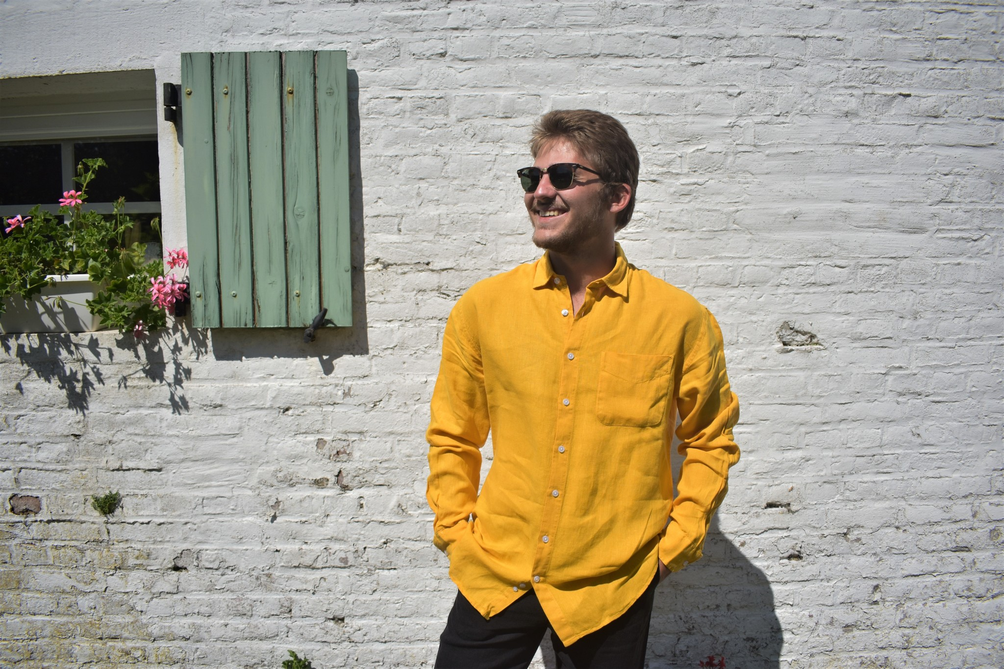 Le grenier du lin Yellow long-sleeved shirt