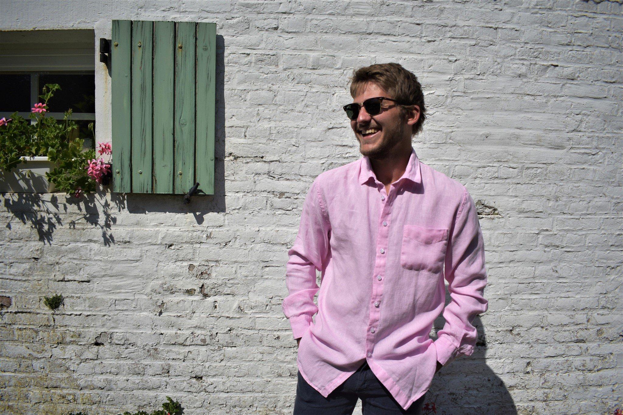 Le grenier du lin Overhemd met lange mouwen Roze
